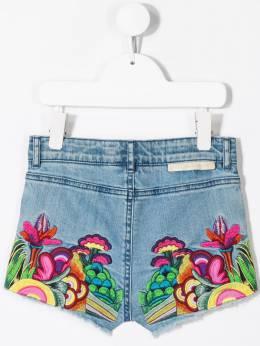 Stella McCartney Kids - джинсовые шорты с цветочной вышивкой 580SNK93933835030000