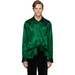 Sies Marjan Green Sander Satin Shirt 192885M19200301GB