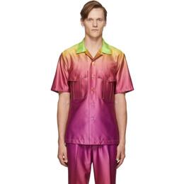 Sies Marjan Pink and Yellow Dean Degrade Pocket Shirt 192885M19200802GB