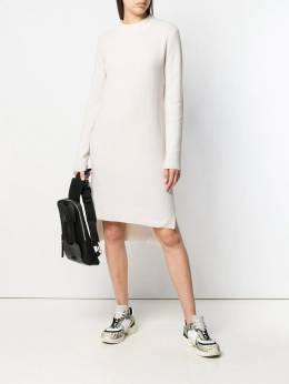 Yves Salomon - трикотажное платье в рубчик YR56385MA6W939065090