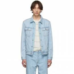 A.P.C. Indigo Denim Quilt Jacket 192252M17700103GB