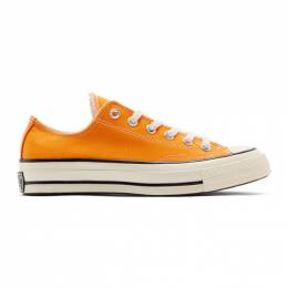 Converse Orange Chuck 70 Low Sneakers 192799M23702615GB