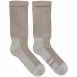 Rick Owens Grey Hiking Socks 192232M22000202GB
