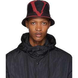 Valentino Navy Valentino Garavani VLogo Bucket Hat 192476M14000301GB