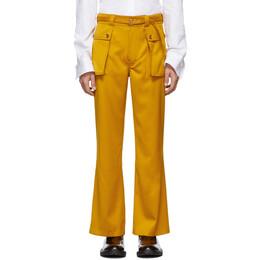 Sies Marjan Yellow Ragen Flare Trousers 192885M19100601GB