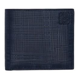 Loewe Navy Linen Bifold Wallet 192677M16401801GB