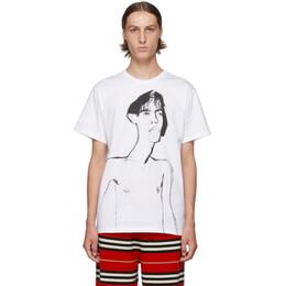 Loewe White Portrait Print T-Shirt 192677M21301104GB
