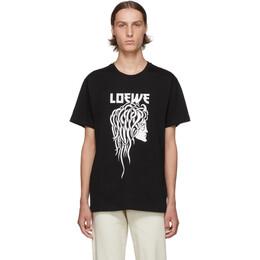 Loewe Black Medusa Print T-Shirt 192677M21301002GB