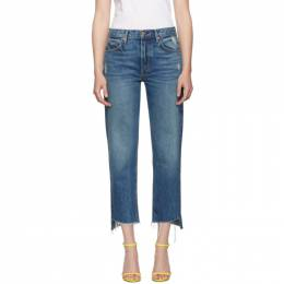 Grlfrnd Blue Helena Crop Jeans 192966F06901307GB