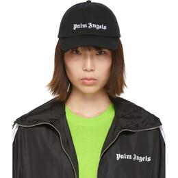 Palm Angels Black Classic Logo Cap 192695F01600101GB