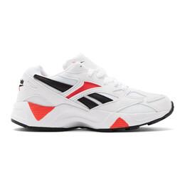 Reebok Classics White and Red Aztrek 96 Sneakers 192749F12801211GB
