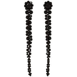 Simone Rocha Black Drip Earrings 192405F02200501GB