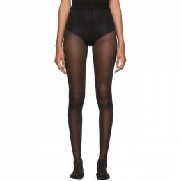 Alexander Wang Black Crystal Logo Tights 192187F08500401GB