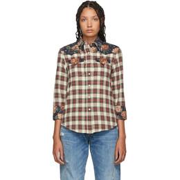 R13 Off-White Cowboy Shirt 192021F10900402GB