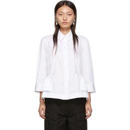 Simone Rocha White Pin Tuck Shirt 192405F10900202GB