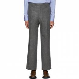 Prada Grey Wool Loden Classic Fit Trousers UP0065 1UMT