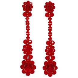 Simone Rocha Red Victorian Earrings 192405F02201801GB