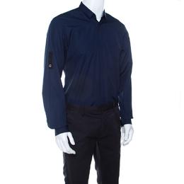 Dior Navy Blue Cotton Long Sleeve Button Front Shirt L