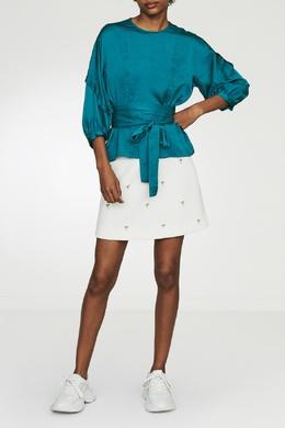 Синяя блуза с завязками Maje 888139716