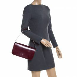 Cartier Burgundy Patent Leather Panthere Shoulder Bag 200967