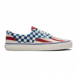 Vans Red and Blue Anaheim Factory Era 95 DX Sneakers 192739M23708003GB