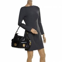 Marc Jacobs Black Leather Multi Pocket Shoulder Bag