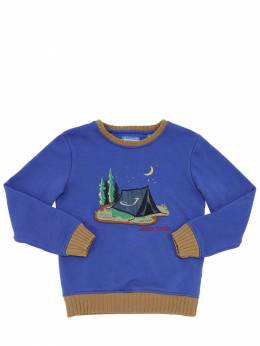 Camping Embroidered Cotton Sweatshirt Jacob Cohen 70IX9V025-ODcw0
