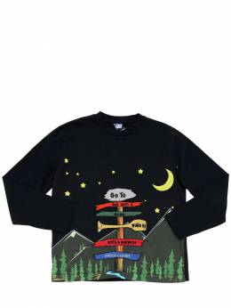 Camping Print L/s Cotton Jersey T-shirt Jacob Cohen 70IX9V015-ODcw0