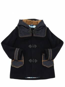 Hooded Wool Blend Coat Jacob Cohen 70IX9V005-ODcw0