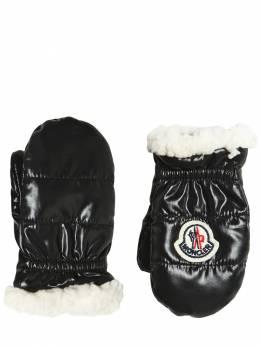 Перчатки Из Нейлона И Искусств. Овчины Moncler 70IFGS011-NzQy0