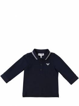 Рубашка Поло Из Хлопка Пике Emporio Armani 70I8Z0007-MDkzMw2