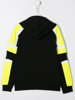 Balmain Kids куртка с капюшоном и вставками 6K4510KX070