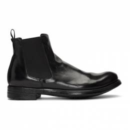Officine Creative Black Hive 007 Chelsea Boots 192346M22300304GB