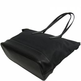 Bally Black Nylon and Leather Vissi Tote 192660