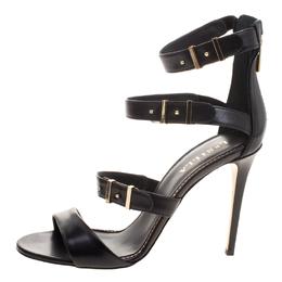 Le Silla Black Leather Minerva Strappy Sandals Size 40 113194