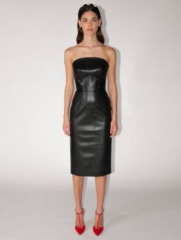 Платье Миди Из Кожи Ermanno Scervino 70IXIP004-OTU3MDg1