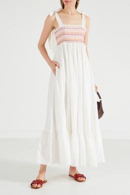 Льняной сарафан с вышивкой Goldie Zimmermann 1411137394