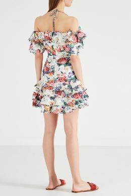 Платье мини с цветочным принтом Allia Zimmermann 1411139826