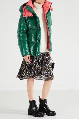 Розово-зеленый пуховик Parana Moncler 34139877