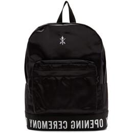 Opening Ceremony Black Logo Backpack 192261M16600201GB