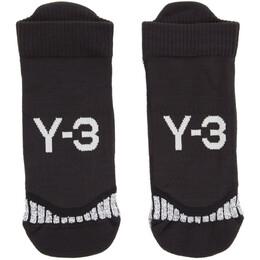 Y-3 Black Invisible Socks 192138M22000603GB