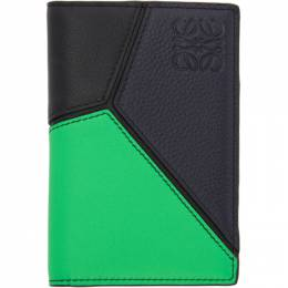 Loewe Green and Blue Puzzle Bifold Wallet 192677M16300601GB
