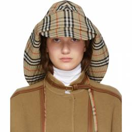 Burberry Beige Vintage Check Rain Hat 192376F01500102GB