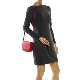 Mansur Gavriel Red Leather Crossbody Bag 204555