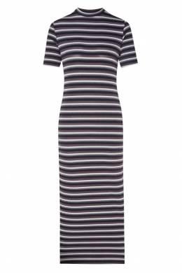Длинное платье в полоску Ganni 2979139908