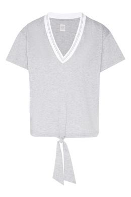 Меланжевая футболка на кулиске Eleventy 2014138545