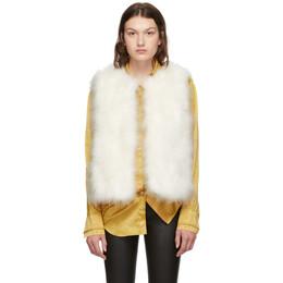 Yves Salomon White Feather Vest 192594F02701504GB