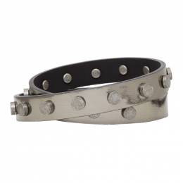 Faith Connexion Grey Leather Bracelet 192848M14200201GB