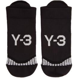 Y-3 Black Invi Socks 192138F07600204GB