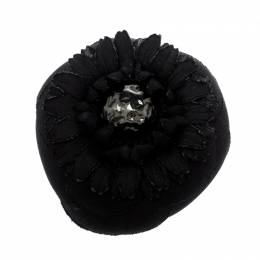 Chanel Black Flower Pin Brooch 208773